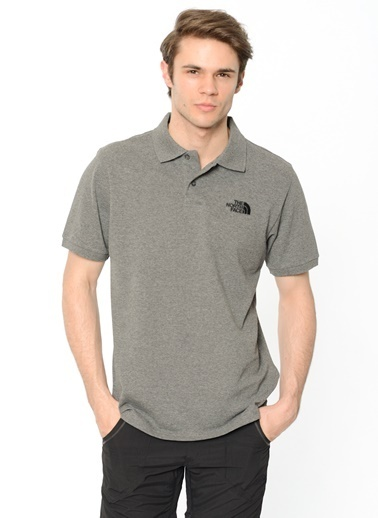 The North Face Polo Piquet Erkek T-Shirt Gri Renkli